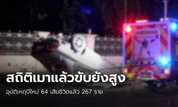 """ปีใหม่ 4 วัน เสียชีวิต 267 บาดเจ็บกว่า 2,362 ราย """"เมาแล้วขับ"""" ยังเป็นสาเหตุหลัก"""
