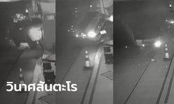 คลิปนาทีชีวิต ทหารโคราชขับกระบะพุ่งชนร้านอาหาร-รถพัง 5 คัน พลิกหงายท้องล้อชี้ฟ้า