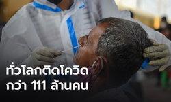 ทั่วโลกติดโควิดกว่า 111 ล้านคน เสียชีวิตแล้ว 2.46 ล้านคน