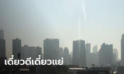 วนลูป! กทม.พบค่าฝุ่น PM2.5 เกินค่ามาตรฐาน 54 พื้นที่ เริ่มส่งผลกระทบต่อสุขภาพ