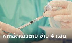 สปสช.ปรับเกณฑ์เงินคุ้มครอง กรณีตายจากผลข้างเคียงวัคซีนโควิด รับเงิน 4 แสนบาท