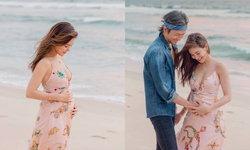 """""""ก้อย รัชวิน"""" โชว์ภาพสวยกับท้อง 4 เดือนที่พุ่งและชัดมาก แห่ทายชาย-หญิงกันยกใหญ่"""