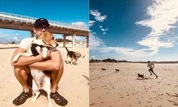 """ไม่เหงาแล้ว  """"เวียร์ """" เผยภาพสุดชิลล์ที่ออสเตรเลีย หลายคนบอกอยากไปวิ่งด้วยเลย"""