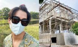 """""""ดีเจพุฒ"""" อัปเดตสร้างบ้านหลังใหม่ที่ไร่หมาเมิน หลังใหญ่วิวสวยมาก"""