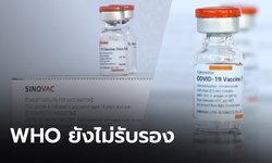 """WHO เลื่อนรับรอง """"ซิโนแวค"""" ขอข้อมูลความปลอดภัย และกระบวนการผลิตวัคซีนเพิ่มเติม"""