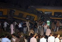 รถไฟโดยสารชนกันในอียิปต์ ตาย 25 คน