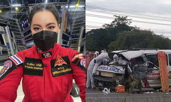"""""""บุ๋ม ปนัดดา"""" เผยข่าวเศร้าสูญเสียทีมกู้ภัย จากอุบัติเหตุรถยนต์ตัดหน้า"""