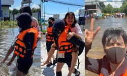 """""""ก้อง ห้วยไร่"""" ทุ่มสุดตัว ลงพื้นที่ช่วยผู้ประสบภัยน้ำท่วม แฟนๆ แห่ส่งกำลังใจ"""
