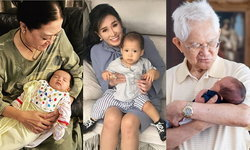 ยิ้มแก้มปริ ปู่ย่าตายายคนดัง ใช้ช่วงเวลาอบอุ่นกับลูกหลาน สุขจนล้นหัวใจ