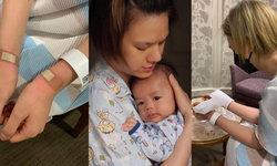 """""""เกล รดา"""" อดอุ้มลูกไปหลายวัน น้ำตาคลอฉีดยารักษาเอ็นข้อมืออักเสบ เตือนแม่ๆ ระวัง"""