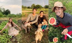 """""""มายด์-เพ็ชร"""" ชื่นใจสร้างฟาร์มด้วยความรักสุดอบอุ่น ทุ่มสุดตัวบุกเบิกตั้งแต่เป็นที่ดินเปล่า"""