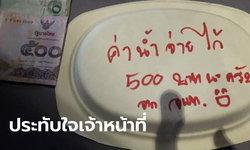 เจ้าหน้าที่ปิดล้อมห้างฯ จับคนร้าย หยิบน้ำ-ขนมกินเพิ่มพลัง ไม่ลืมวางเงินไว้ให้แม่ค้า