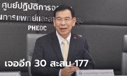 ไวรัสโคโรนา: สาธารณสุขเผยไทยติดโควิด-19 เพิ่ม 30 คน ยอดสะสมรวม 177 ราย