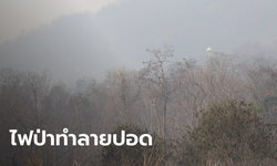 ไฟป่าดอยสุเทพ ดับแล้ว ฝุ่นขี้เถ้าปลิวคลุ้งทั่วเมือง แม่ริมวิกฤตค่ามลพิษพุ่ง 422