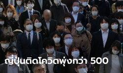 โควิด-19 ญี่ปุ่นพุ่ง วันเดียวเจอติดเชื้อใหม่ 503 คน สูงสุดตั้งแต่ไวรัสโคโรนาเริ่มระบาด