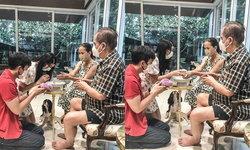 """""""ภูผา"""" พา """"มิ้นต์ ชาลิดา"""" ไปไหว้สวัสดีปีใหม่ไทยพ่อไพวงษ์และแม่ ในวันสงกรานต์"""