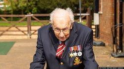 อดีตทหารอังกฤษวัย 99 ปี เดินหลังบ้านระดมทุน 15 ล้านดอลลาร์ ช่วยผู้ป่วยโควิด-19