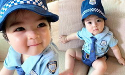 """""""น้องเดมี่"""" ลูกสาว """"ลิเดีย"""" แปลงโฉมเป็น ตำรวจหญิง ส่งสายตาแป๋วแหวว ยิ้มหวานมากๆ"""