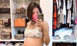 """""""ใบเตย"""" เผยภาพท้อง 6 เดือน ในชุดคลุมท้องสุดแซ่บ อัปเดตลูกสาวดิ้นไม่หยุด"""