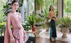 """""""แมท ภีรนีย์"""" สวยบาดใจ ใส่ชุดไทยถ่ายแบบ สง่างามและหวานมาก"""
