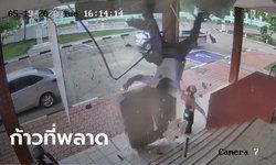 เปิดใจตำรวจจากคลิปร่วงทะลุเพดานโรงพัก ร่างกระแทกบันได เย็บ 8 เข็ม
