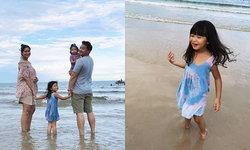 """""""เบนซ์-มิค"""" เปลี่ยนบรรยากาศ พาลูกๆ ไปเที่ยวทะเล คุณแม่ท้องโตแล้ว"""