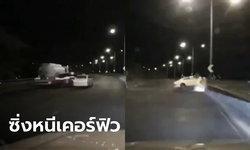 เผยคลิปบีเอ็มซิ่งบนทางด่วนชนแท็กซี่ ผู้โดยสารกระเด็นออกนอกรถเสียชีวิต