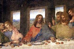 อาหารในภาพวาดพระกระยาอาหารมื้อสุดท้ายถูกเพิ่มขนาด