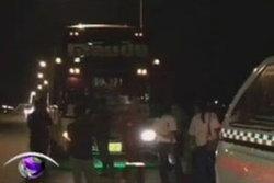 วัยรุ่นปาหินใส่รถบัสรับส่งพนักงานอยุธยา คนขับเจ็บ