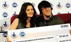 คู่รักอังกฤษถูกหวยลอตโต้รับกว่า 2 พันล้านบาท