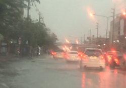 ฝนถล่มปากน้ำ-บางนา น้ำท่วมขังหลายจุด