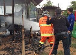 ไฟไหม้บ้านเกษตรตำบล วอดทั้งหลัง