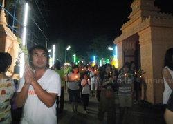 ชาวพุทธปราจีนฯเวียนเทียนจรดเที่ยงคืน