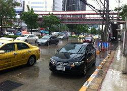 สำรวจจร.หลังฝนตกหนักเมืองทองน้ำเริ่มลด