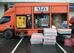 ปภ.เขต12ส่งรถผลิตน้ำดื่มช่วยชาวตรัง