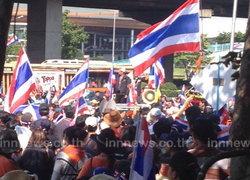 บก.จร.ตรวจม็อบปิดทางขึ้นสะพานไทยเบลเยียม