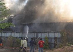 ไฟไหม้ห้องพักแรงงานต่างด้าวแม่สอดวอดกว่า2ล.