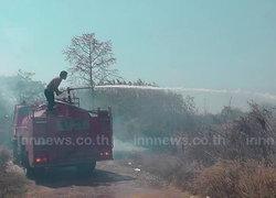 ตากแล้ง หนัก ไฟไหม้ป่าละเมาะกว่า 10 ไร่