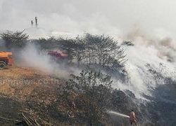 ไฟไหม้บ่อขยะพบพระหมอกควันเหม็นทั่วเมือง