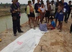 หนุ่มใหญ่ปราจีนบุรีลงหาปลาให้แม่จมน้ำดับ