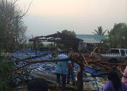 พายุลูกเห็บถล่มลำปางบ้านพังกว่า300หลัง