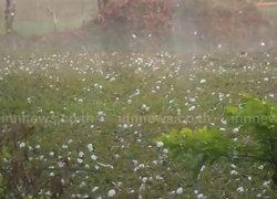 ฝนลูกเห็บตกเชียงรายหมอกควันลดฟ้าแจ่มใส