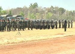 ทหารซ้อมแผนควบคุมฝูงชน รับการชุมนุม