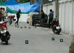 ตร.ตรวจสอบจุดทหารถูกยิงวัตถุพยานเพียบ