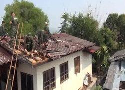พายุซัดลำปางบ้านพังทหารเร่งช่วยเหลือ
