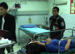 ปราจีน คนร้ายถีบล้มคว่ำสลบเหมือดชิงรถ