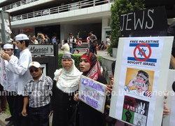 กลุ่มคนไทยต้านยิวอย่ายิงปาเลสไตน์ดับ184ศพ-จนท.เข้ม