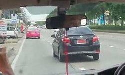 โจ๋ขับเก๋งป้ายแดงปาดหน้ารถตู้ ตร.ตามจับถึงบ้าน