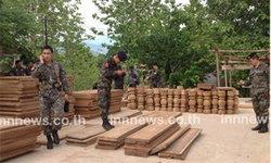 ทหารยึดไม้เถื่อนในบ้านพักเสี่ยชายแดน