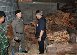 ทหารร่วมตร.ขุนหาญยึดไม้พะยูงกว่า3,000ท่อน
